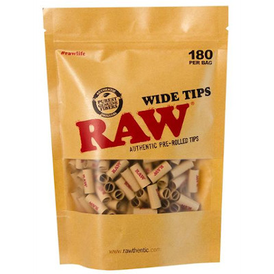 RAW Prerolled Tips Wide